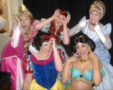 disfraces grupo princesas disney