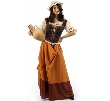 disfraces medievales campesina corpino grande