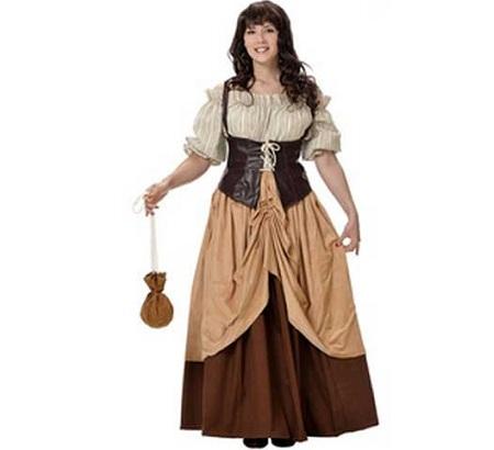 disfraces medievales campesina falda marron