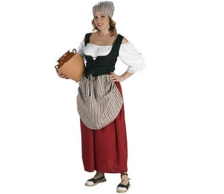 disfraces medievales campesina mandil