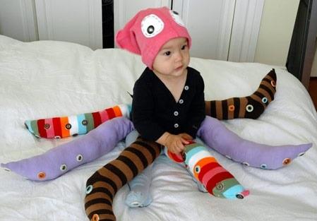 disfraz casero bebe pulpo