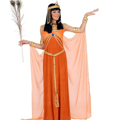 disfraz egipcio mujer naranja