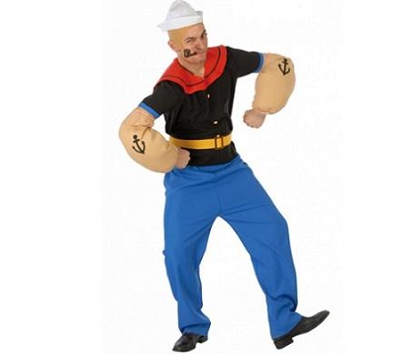 disfraz hombe popeye cinturon