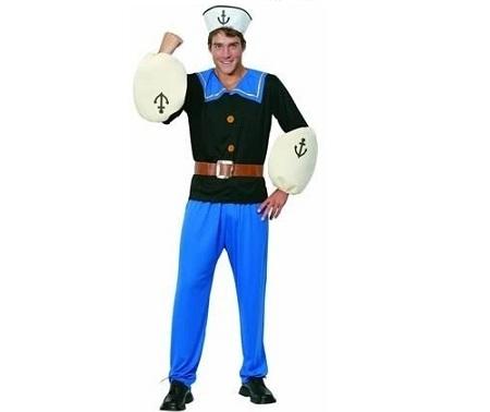 disfraz hombre popeye musculos