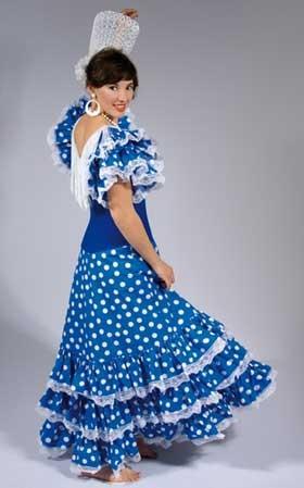 flamenca mujer azul