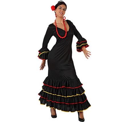 flamenca mujer negro