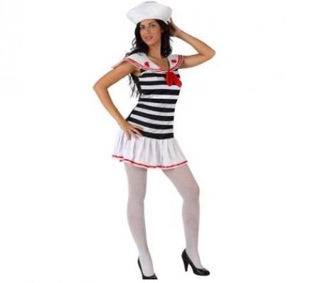 marinera mujer blanco
