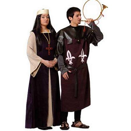 medievales pareja granate