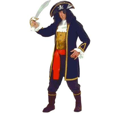 Pirata hombre chorreras