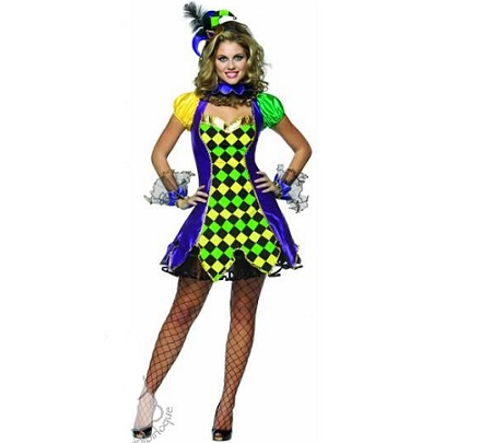 disfraces sexys mujer arlequin