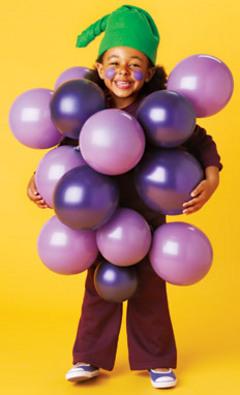 Disfraz de rácimo de uvas
