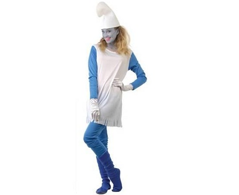 disfraz mujer pitufa