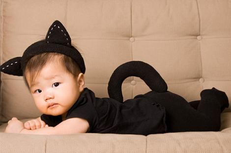 Disfraz de gato de bebé