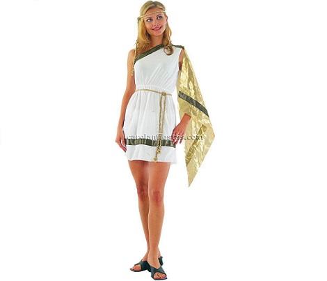 disfraz griega corto