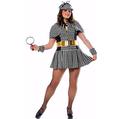 5 disfraces mujer sexy detective
