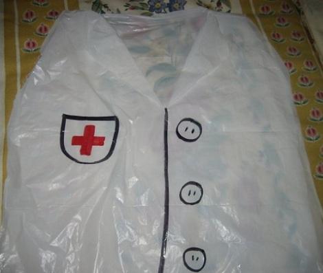 disfraces caseros bolsas doctor