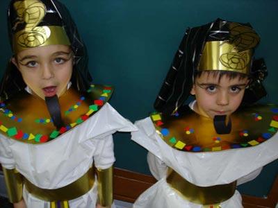 disfraces caseros bolsas egipcios