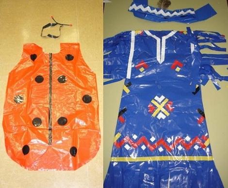 disfraces caseros bolsas mariquita indio
