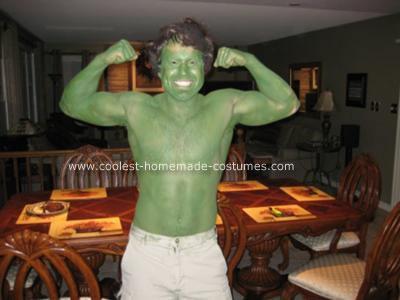 disfraces caseros divertidos hulk