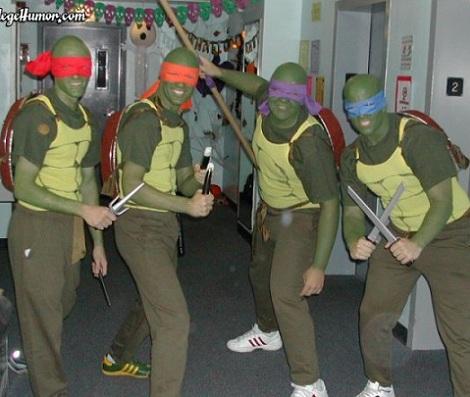 disfraces caseros grupo tortugas