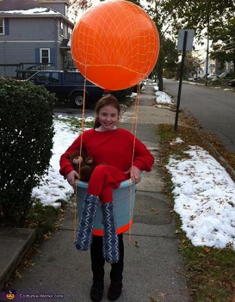 disfraz casero nino globo