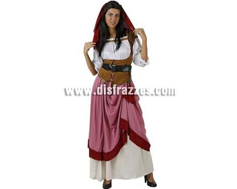 disfraces medievales baratos mujer rosa