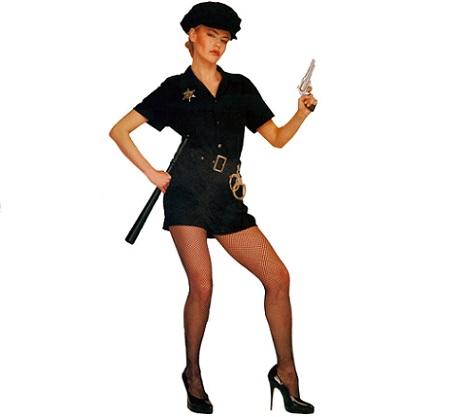 disfraces mujer despedida policia