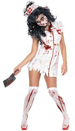 disfraces mujer halloween enfermera zombie