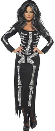 disfraces mujer halloween esqueleto