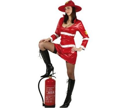 disfraces sexys baratos bombera