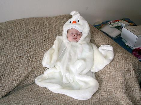 Disfraz de fantasma para bebé