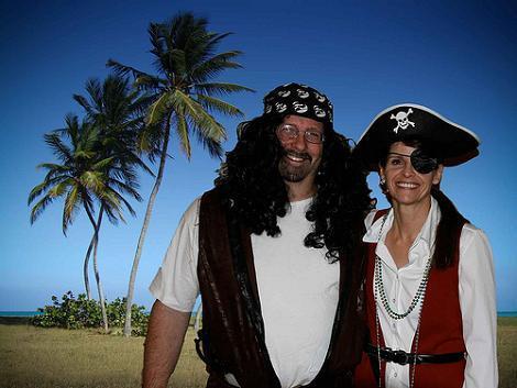 Disfraz pirata pareja