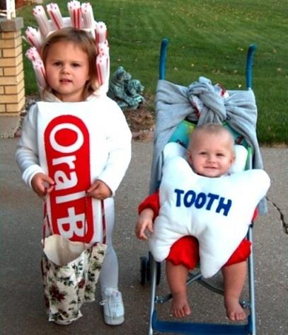 disfraces bebé originales cepillo diente