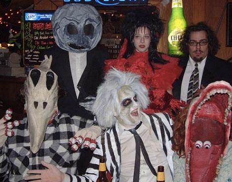disfraces caseros halloween grupos beetlejuice