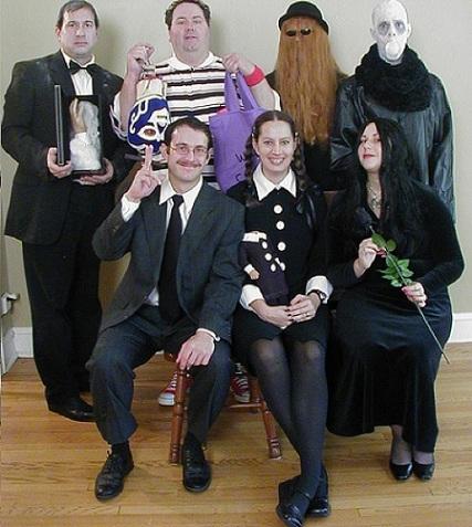 disfraces caseros halloween grupos familia adams