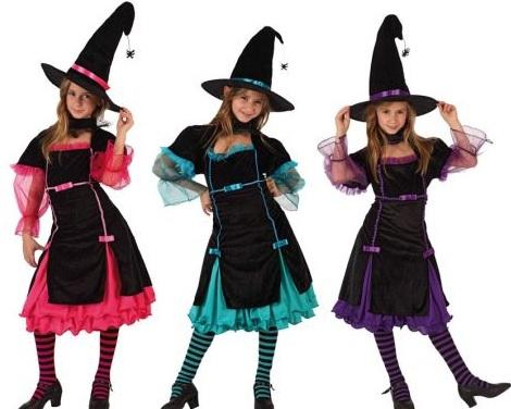 disfraces halloween ninos brujas