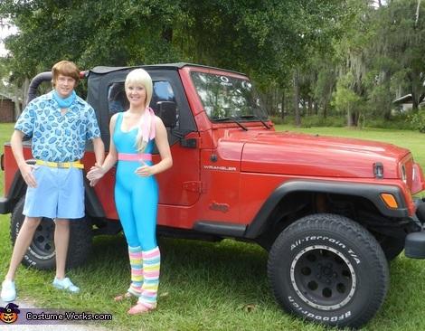 disfraz barbie casero jeep