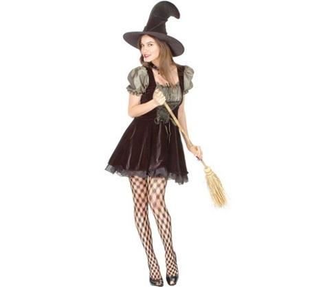 Disfraz de bruja para mujer for Como pintarse de bruja guapa