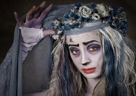 disfraz halloween casero adulto novia cadaver