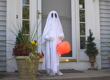 disfraz halloween niño casero fantasma