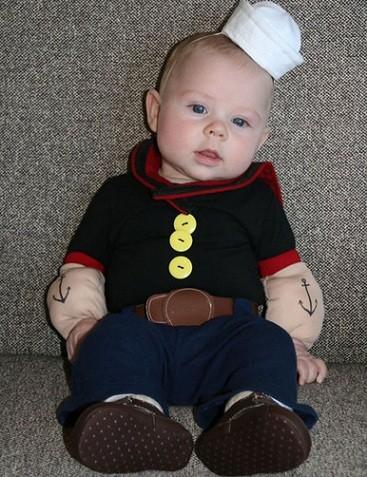 los mejores disfraces caseros niño popeye