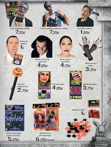 Catalogo El Corte Inglés Halloween 2012 accesorios