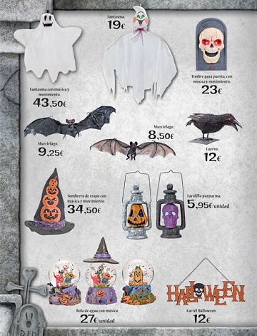 Catalogo El Corte Inglés Halloween 2012 decoración