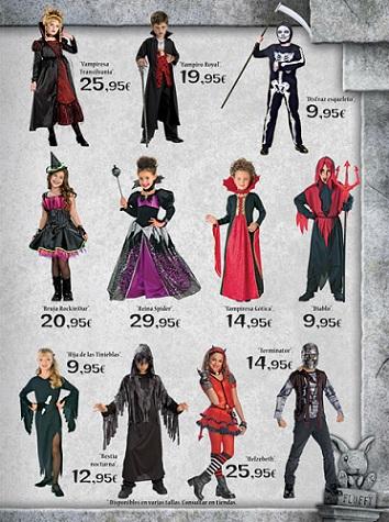 Catalogo El Corte Inglés Halloween 2012 niños 2