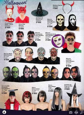 catálogo juguettos halloween 2012 mascaras