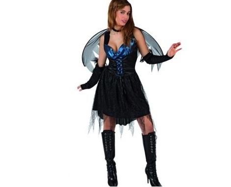 disfraces halloween baratos mujer angel negro