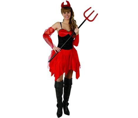 disfraces halloween baratos mujer diablesa
