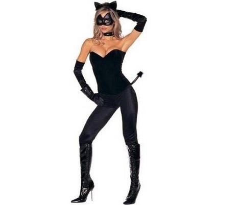 disfraces Halloween caseros mujer gata negra