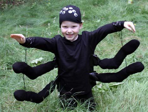 disfraces halloween niños araña