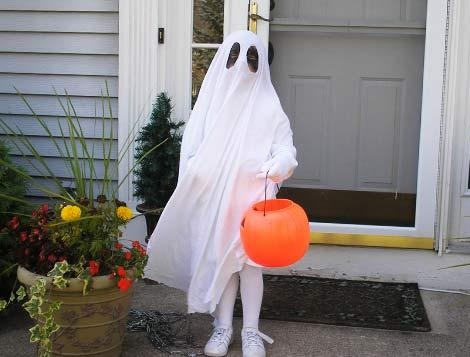 disfraces halloween niños fantasma
